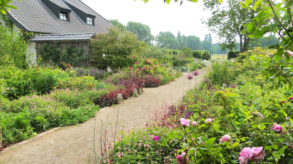 The Long Border at Viller the Garden at the beginning of June 2017
